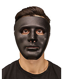 Black Blank Face Mask