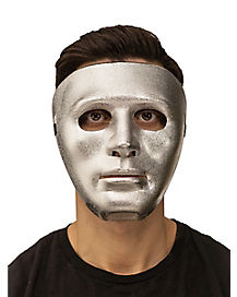 Silver Blank Face Mask