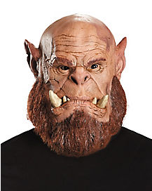 Faux Fur-Trimmed Orgrim Mask Deluxe – World of Warcraft