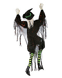 5 ft climbing witch decorations - Witch Decorations