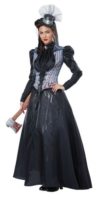 Victorian Costumes: Dresses, Saloon Girls, Southern Belle, Witch Adult Axe Murderess Costume by Spirit Halloween $79.99 AT vintagedancer.com