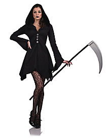 Adult Grim Hooded Dress Costume