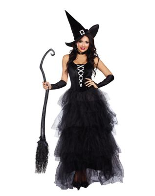 Victorian Costumes: Dresses, Saloon Girls, Southern Belle, Witch Adult Spellbound Witch Costume by Spirit Halloween $59.99 AT vintagedancer.com
