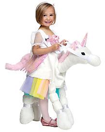 Kids Piggyback Unicorn Costume