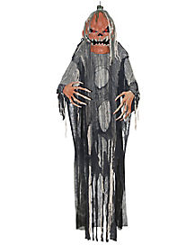 5 ft hanging pumpkin man animatronics decorations - Halloween Hanging Decorations