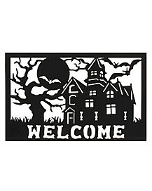 Haunted House Door Mat – Decorations