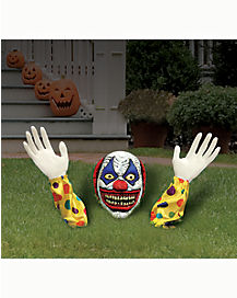 1.2 Ft Evil Clown Ground Breaker - Decorations