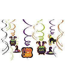 Happy Halloween Foil Swirls - Decoration