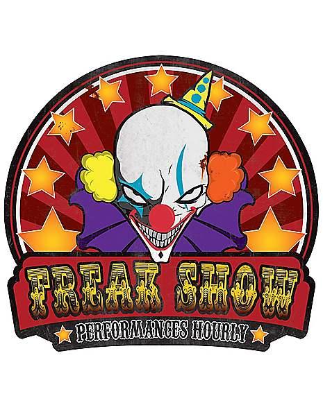 Spirit Halloween Wall Decor : Freakshow sign decorations spirithalloween