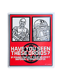 1.5 Ft Droid Sign Decorations - Star Wars
