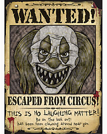 Wanted Clown Poster - Decorations