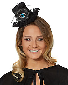 Evil Eye Wizard Mini Hat Fascinator