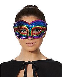 Rainbow Sequin Eyemask