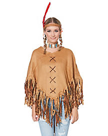 Adult Faux Suede Poncho