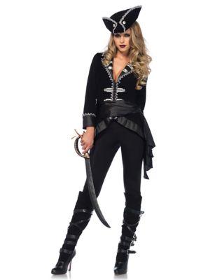 Steampunk Dresses | Women & Girl Costumes Adult Seven Seas Beauty Pirate Costume by Spirit Halloween $64.99 AT vintagedancer.com