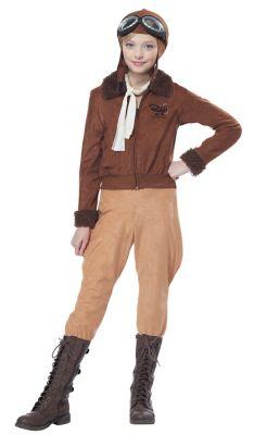 1920s Children Fashions: Girls, Boys, Baby Costumes Kids Aviator Costume by Spirit Halloween $44.99 AT vintagedancer.com