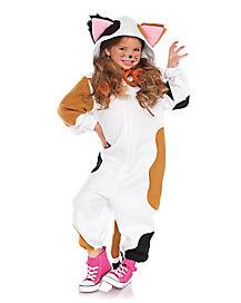 Kids Calico Cat One Piece Costume