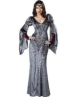 Adult Dark Medieval Maiden Costume
