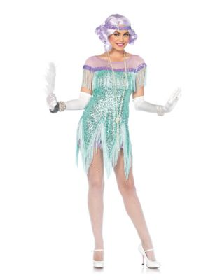 1930s Costumes- Bride of Frankenstein, Betty Boop, Olive Oyl, Bonnie & Clyde Adult Roaring 20s Trixie Costume by Spirit Halloween $37.48 AT vintagedancer.com