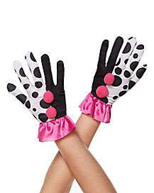 Harlequin Clown Ruffle Gloves