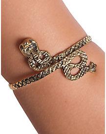 Goldtone Gilded Snake Arm Band