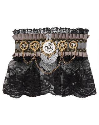 Steampunk Jewelry – Necklace, Earrings, Cuffs, Hair Clips Steampunk Choker Necklace by Spirit Halloween $12.99 AT vintagedancer.com