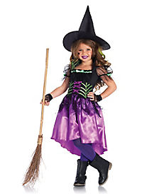 Kids Spiderweb Witch Costume