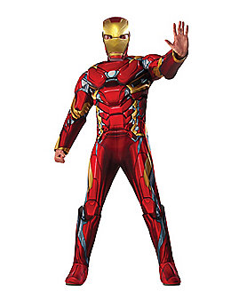 Adult Iron Man Costume Deluxe - Captain America Civil War