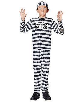 Kids Jailbird Costume