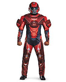 Adult Red Spartan One Piece Costume - Halo