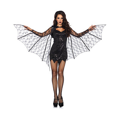 Vintage Retro Halloween Themed Clothing Lace Bat Wing Shrug $32.99 AT vintagedancer.com