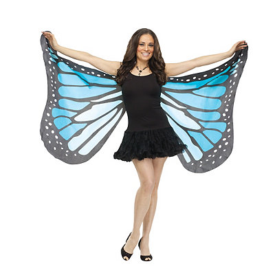 Roaring 20s Costumes- Cheap Flapper Dresses, Gangster Costumes Blue Butterfly Wings $16.99 AT vintagedancer.com
