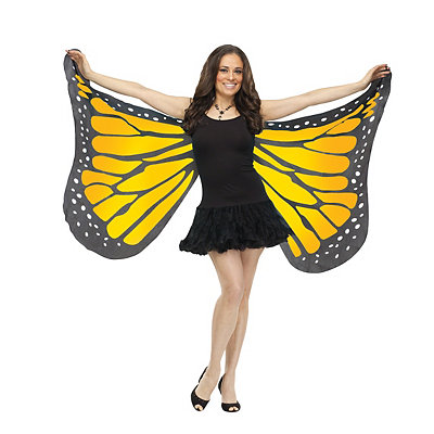 Roaring 20s Costumes- Cheap Flapper Dresses, Gangster Costumes Orange Butterfly Wings $16.99 AT vintagedancer.com