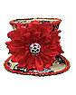 Day Of The Dead Mini Top Hat Fascinator