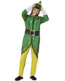 Adult Hooded Elf Pajama Costume