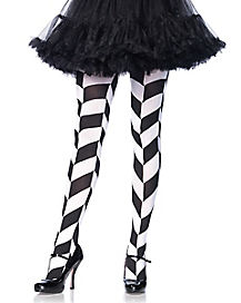 Black and White Chevron Tights