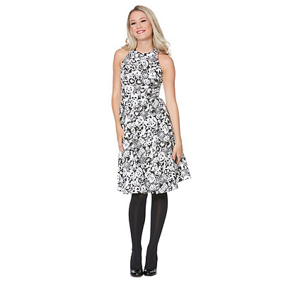 Vintage Retro Halloween Themed Clothing Creatures Of The Night Glow In The Dark Dress $59.99 AT vintagedancer.com