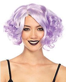 Purple Curly Bob Wig