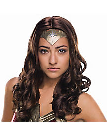 Adult Wonder Woman Wig Deluxe - Batman v Superman Dawn of Justice