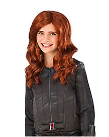 Kids Black Widow Wig - Captain America Civil War