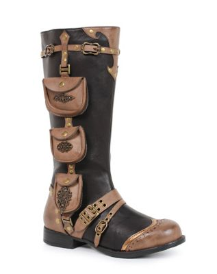 Retro Boots, Granny Boots, 70s Boots Steampunk Boots  - Size 10 - by Spirit Halloween $89.99 AT vintagedancer.com