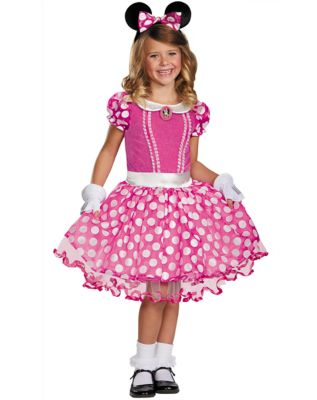 Kids 1950s Clothing & Costumes: Girls, Boys, Toddlers Kids Minnie Mouse Costume - Disney by Spirit Halloween $69.99 AT vintagedancer.com