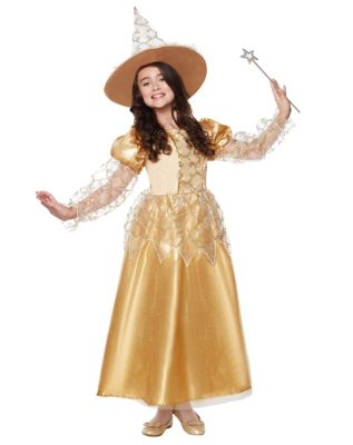 1940s Costume & Outfit Ideas – 16 Women's Looks Kids Golden Witch Costume by Spirit Halloween $69.99 AT vintagedancer.com
