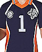 Adult Navy Volleyball Uniform Costume