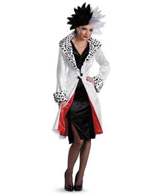 1950s Costumes- Poodle Skirts, Grease, Monroe, Pin Up, I Love Lucy Adult Cruella De Vil Prestige Costume - 101 Dalmatians by Spirit Halloween $89.99 AT vintagedancer.com