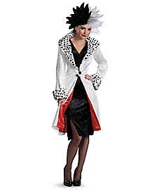 Halloween Movie Costumes source Adult Cruella De Vil Prestige Costume 101 Dalmatians