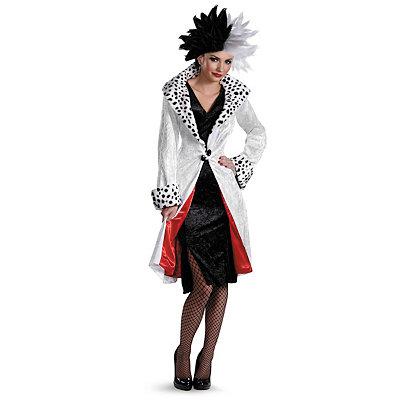 1950s Costumes Adult Cruella De Vil Prestige Costume - 101 Dalmatians $89.99 AT vintagedancer.com