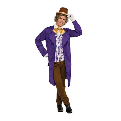 Steampunk Clothing- Men's Adult Willy Wonka Costume Deluxe - Willy Wonka and the Chocolate Facto $49.99 AT vintagedancer.com