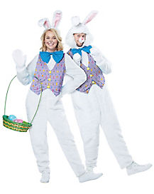 Adult Open Face Easter Bunny Costume