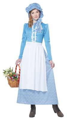 Victorian Costumes: Dresses, Saloon Girls, Southern Belle, Witch Adult Pioneer Costume by Spirit Halloween $49.99 AT vintagedancer.com